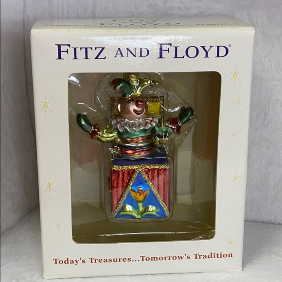 Fitz and Floyd Vintage X-mas Jack in the Box